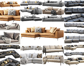 3D model Modern sofas collection x 14