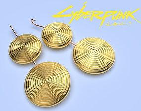 Cyberpunk Earrings Brigitte cosplay 3d model for print