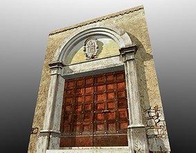 Medieval Romanic Style Portal no 1 3D asset