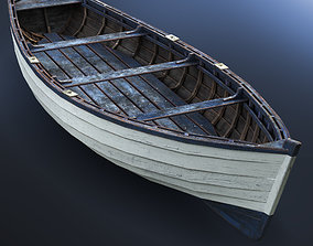 Boat wooden 3D model