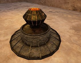 Medieval Smeltery Low Poly 3D Model VR / AR ready