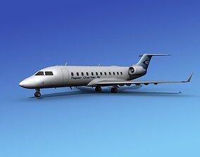 Canadair CRJ200 Napier Charter 3D model