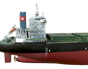 Bulk carrier Black hquality 3D model