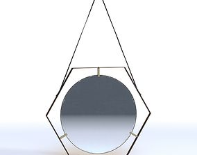 3D model Hexagonal 50s Mirrors
