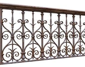 Forged Balcony Railing Pl22-DQ 3D model