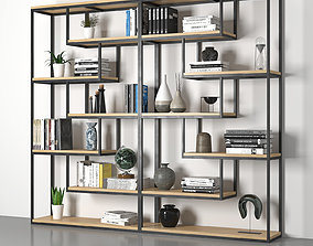 3D model rigged shelving loft