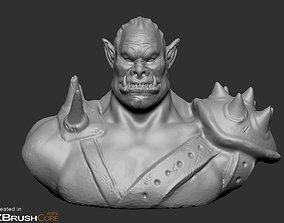 Orc Bust warcraft 3D print model