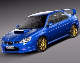 Subaru Impreza STi -2006 3D model