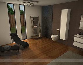 3D model Modern bathroom 2