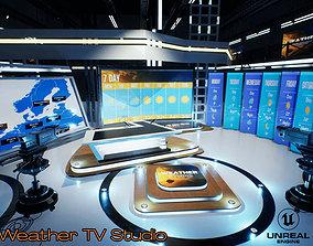 Weather TV Studio Unreal 3D model