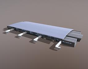 Airport Terminal UWKD Terminal-1A 3D model