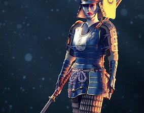 3D model Onna-bugeisha