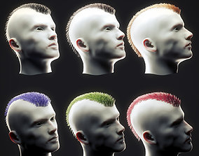 Punk Hairstyle Low Poly 1 3D asset