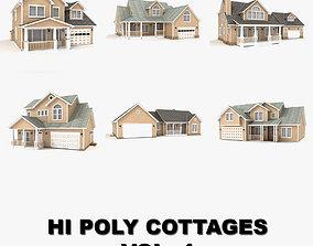 3D Hi-poly cottages collection vol 4 gutters