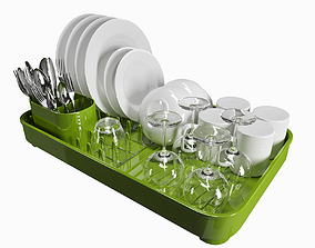 3D model Dish drainer washing