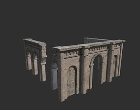 Medieval ruin 3D model low-poly
