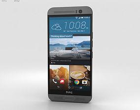 3D HTC One M9 Plus Gunmetal Gray