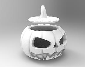 halloween pumpkin 3D printable model lid