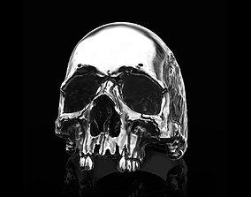 character 3D printable model Skull ring