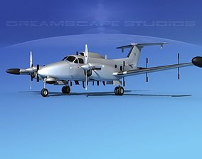 Beechcraft RC-12N Guardrail Bare Metal 3D