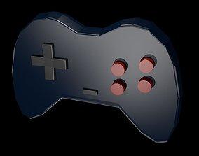 3D model Low poly joystick