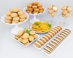 candy 3D Orange macarons
