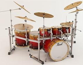 Drum Pearl Masterworks Custom 3D asset