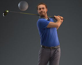 00012Vincent004 Golf Player 3D Model
