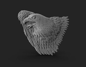 3D print model Eagle Bass Relief