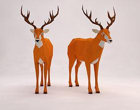 3D asset ORIGAMI---Deer Setup