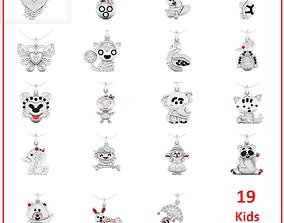 19 Kids pendant 3dm stl renders details bulk