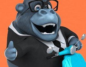 3D Fun cartoon gorilla