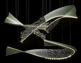 animated Art chandelier 3D model