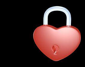 Lock heart 3D