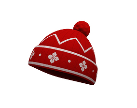Knitted Hat cold 3D model