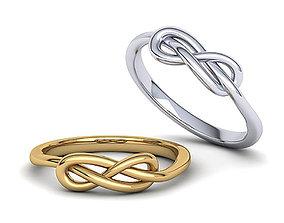 Infinity Knot ring v2 3dmodel printable 3D print model