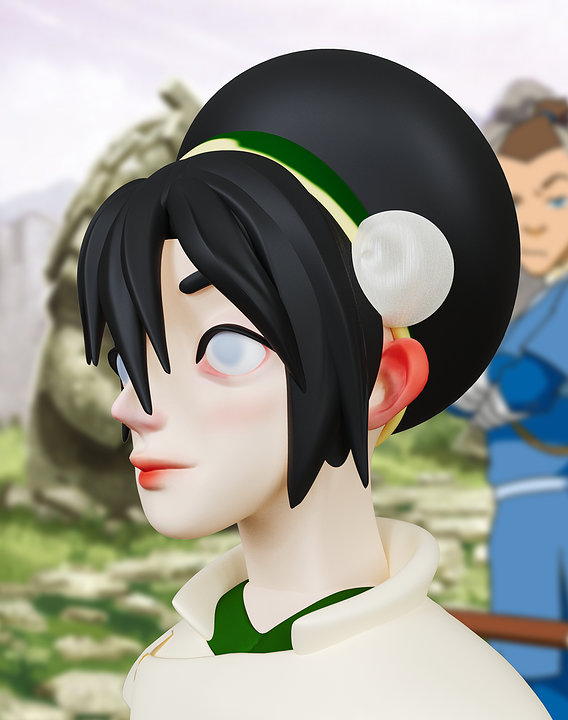 Toph Beifong Avatar The Last Airbender 3d print model 3D print model