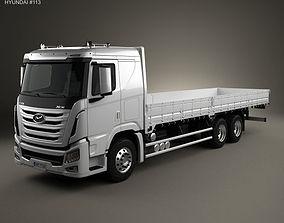 3D Hyundai Xcient Flatbed Truck 2014
