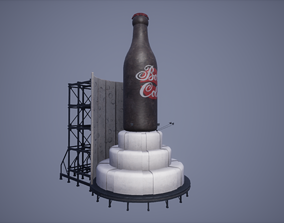 3D Billboard Low Poly Game Ready low-poly