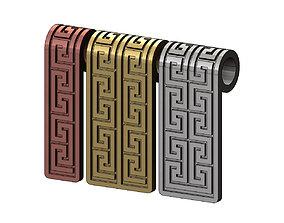 Greek key motif pendant 3D print model