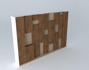3D Wooden irregular wall