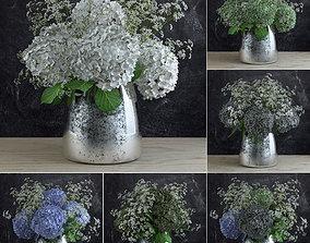 Bouquet of Gypsophila with Hyndrangeas 3D model