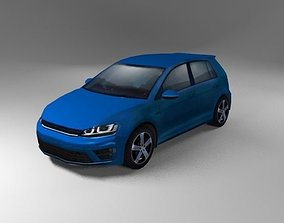3D model low-poly German Hatchback R Generic 2015