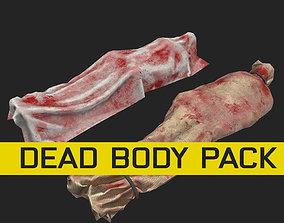 horror dead body corpse dead man PBR and 3D model