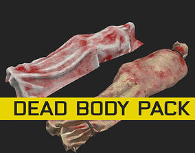 horror dead body corpse dead man PBR and 3D model