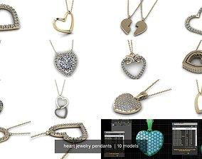 heart jewelry pendants 3D