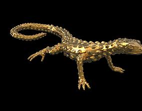 3D printable model gold LIZARD