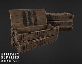3D asset Military Supplies Pack - Wooden Ammo