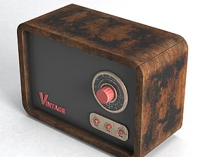 Vintage Radio 3D
