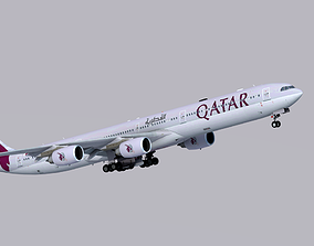 Airbus A340-600 Qatar Airways 3D model